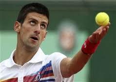 Novak Djokovic at the French Open
