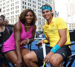 Rafael Nadal and Serena Williams